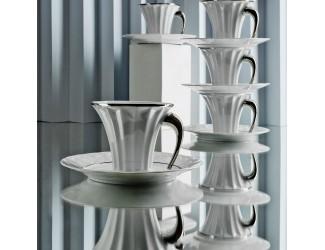 Чайная пара Rudolf Kampf Древний Египет белый с платиной 61120415-2017k