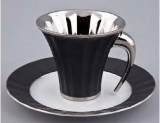 Чайная пара Rudolf Kampf Древний Египет 0,20л черный с платиной 61120415-2110k