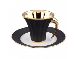 Чайная пара Rudolf Kampf Древний Египет 0,20л , черный с золотом 61120415-2112