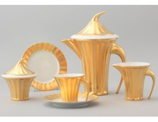 Сервиз чайный Rudolf Kampf Древний Египет 15 предметов 6 персон оранжевый 61160725-2012k