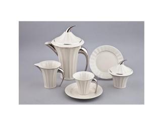 Сервиз чайный Rudolf Kampf Древний Египет 15 предметов 6 персон белый, отводка платина 61160725-2014k
