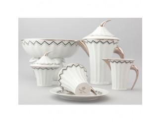 Сервиз чайный Rudolf Kampf Древний Египет 15 предметов 6 персон белый 61160725-2017