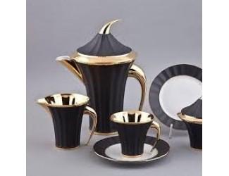 Сервиз чайный Rudolf Kampf Древний Египет 15 предметов 6 персон черный с золотом 61560725-2112