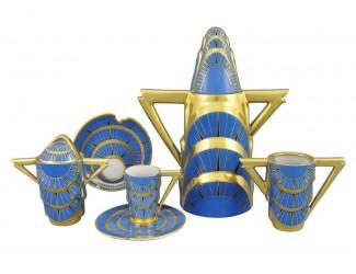 Кофейный сервиз мокко Rudolf Kampf Манхэттен 15 предметов 6 персон