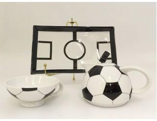 """Подарочный набор Rudolf Kampf """"Футбол"""" на 1 персону 3предмета черно-белый 66140825-2424"""