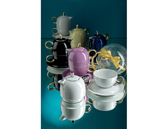 Восточный набор Rudolf Kampf  Duo 3 предмета (чайник0,4+чашка0,2), фиолетовый 42140825-2553