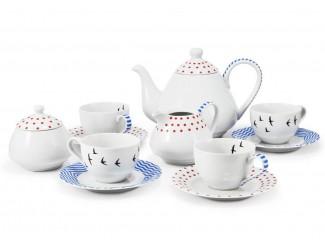 Сервиз Чайный на 4 персоны 11 предметов Leander BeFree декор 2826