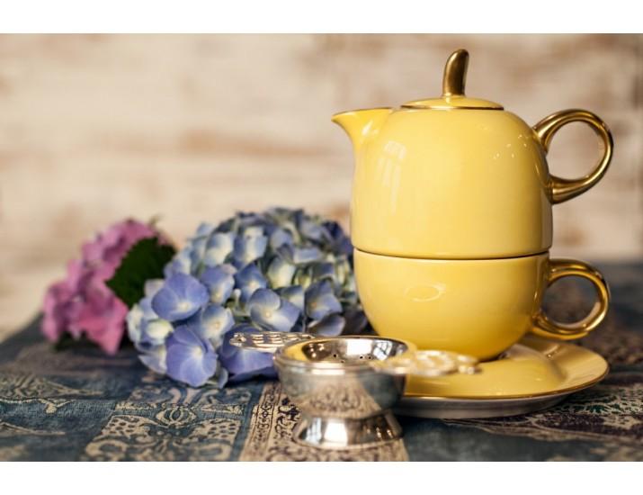 Восточный набор Rudolf Kampf  Duo 3 предмета (чайник0,4+чашка0,2), жёлтый