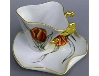 Чайная пара Rudolf Kampf Дали 0,15л тюльпан 46120425-240Mk