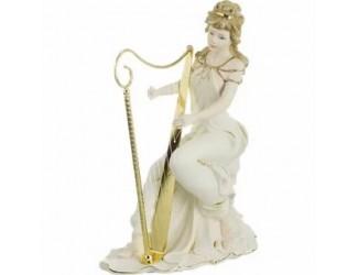 Статуэтка Леди с арфой 37см золото Sabadin Vittorio 143492
