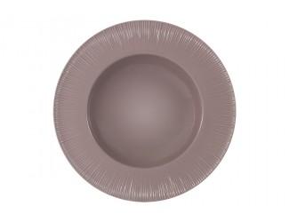 Тарелка суповая (какао) Home & Style без инд.упаковки