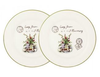 Набор из 2-х обеденных тарелок 25см Anna Lafarg LF Ceramics Букет