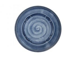 Тарелка обеденная Matceramica Augusta (синий) без инд.упаковки