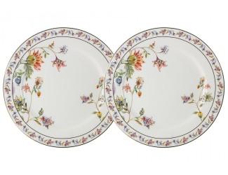 Набор из 2-х закусочных тарелок 20,5см Anna Lafarg Primavera Флора (белая)
